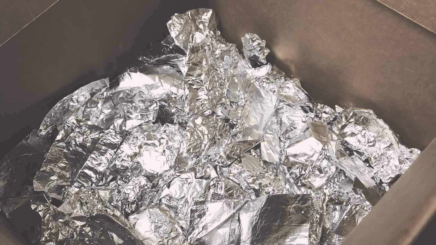 Foil to be recycled at Austin Hair Salon Keith Kristofer
